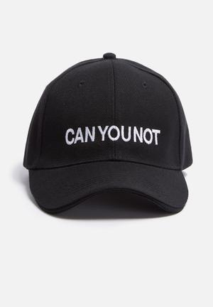 Vintage Lover Can You Not Embroidered Cap Headwear Black