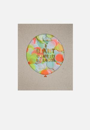 Meri Meri Confetti Neon Giant Balloon Kit Partyware