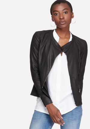 Y.A.S Nappalon Leather Jacket Black