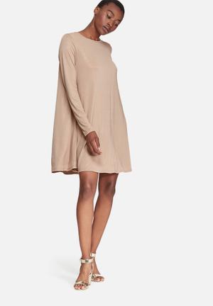 Glamorous Swing Dress Formal Brown & Gold