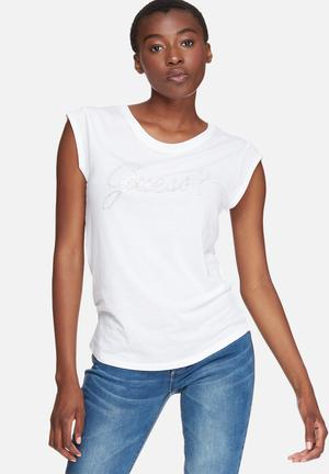GUESS Muscle Tee T-Shirts, Vests & Camis White