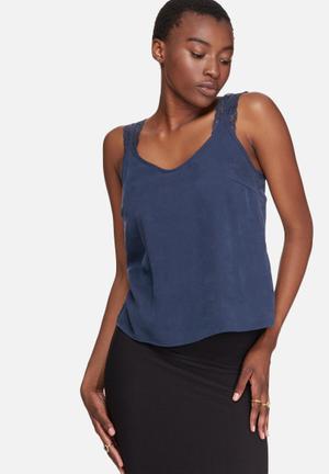Vero Moda Monsoon Singlet T-Shirts, Vests & Camis Navy
