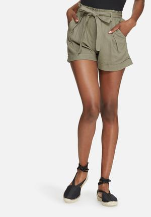Dailyfriday Linen Shorts Olive Green