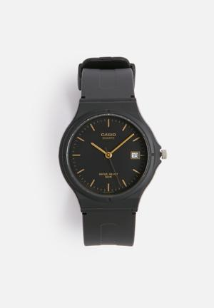 Casio Resin Quartz MW59-1EV Watches Black