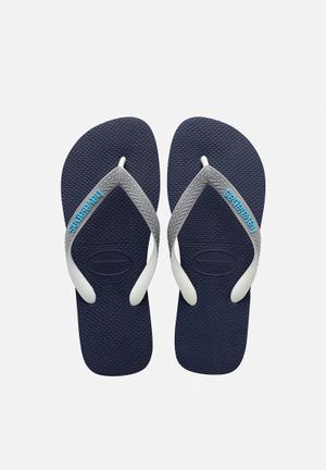 Havaianas Men's Top Mix Sandals & Flip Flops Navy & Grey