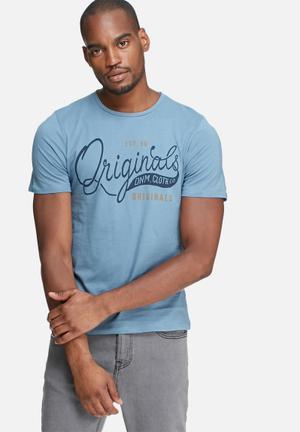 Jack & Jones Type Tee T-Shirts & Vests Blue