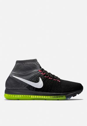 Nike Zoom All Out Flyknit Trainers Black / White / Cool Grey / Volt