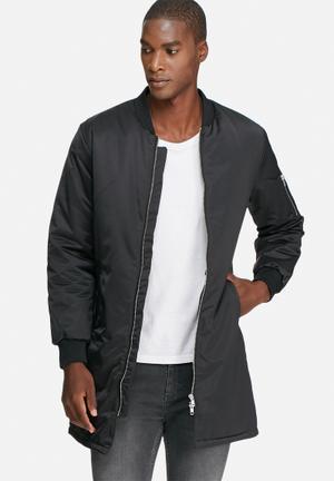 Augustin long bomber jacket