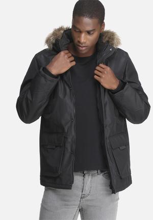 Hollow parka jacket