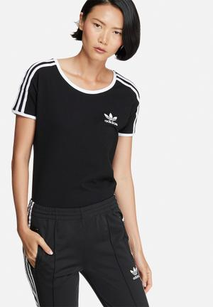 Adidas Originals Sandra 1977 Tee T-Shirts Black & White