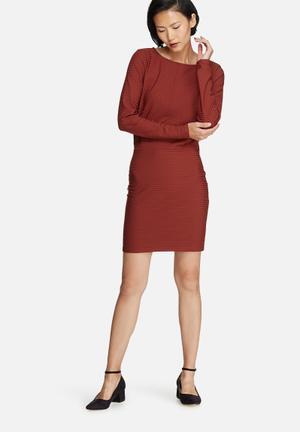 Vero Moda Dina Dress Formal Brick Red