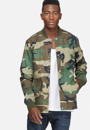 Camo coated bomber