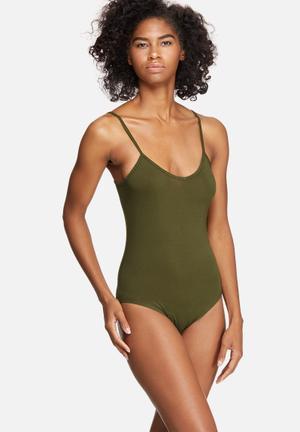 V-neck cami bodysuit