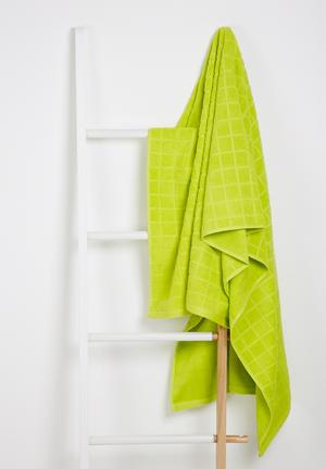 Sixth Floor Cube Bath Sheet Towels 100% Cotton, 480gsm