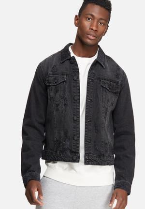 Only & Sons Rocker Denim Trucker Jacket Black