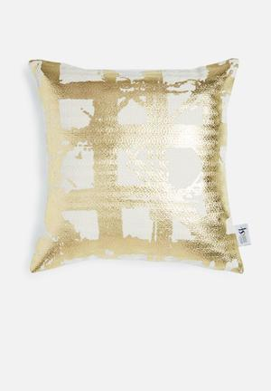 Sixth Floor Foil Pillow Cover Scatter Cushions & Throws