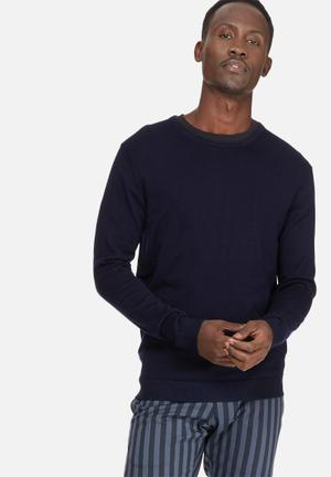 Selected Homme Tower Merino Crew Neck Knitwear Navy