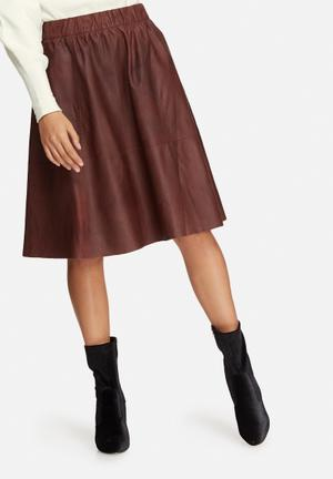 Salta leather skirt