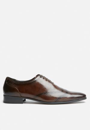 Gino Paoli Oliver Oxford Formal Shoes Brown