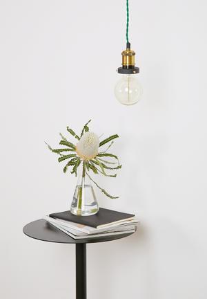Sixth Floor Claude Pendant Light Lighting Brass, Plastic & Cord