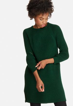 Stitch detail knitwear dress