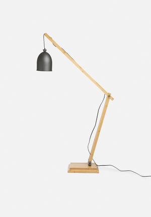 Sixth Floor Felix Floor Lamp Lighting Wood & Metal