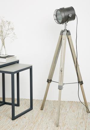 Sixth Floor Neil Tripod Floor Lamp Lighting Wood & Metal