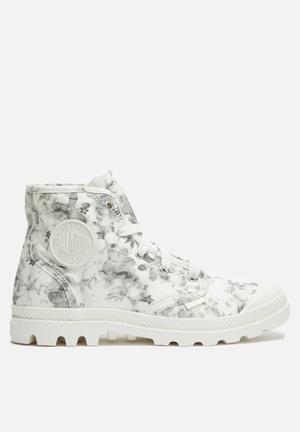 Palladium Pampa Hi Boots Cream & Grey