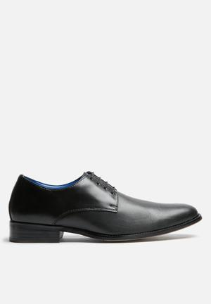 Watson Shoes Marlin Leather Derby Formal Shoes Black