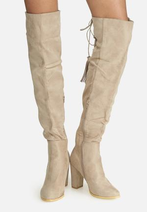 Over the knee lace-up boot