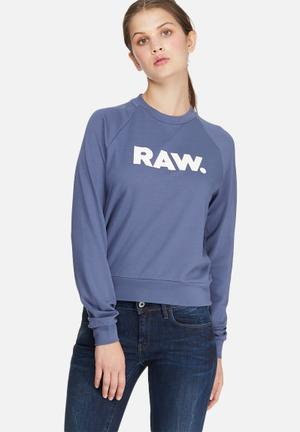 G-Star RAW Xula Straight Sweat T-Shirts, Vests & Camis Blue & White