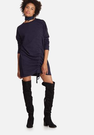 Ruched sweat dress