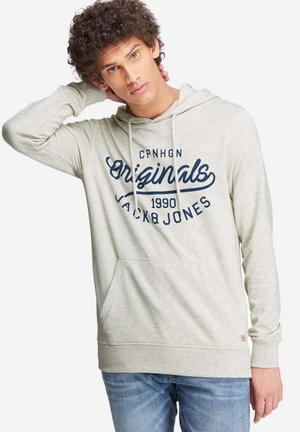 Jack & Jones Finish Hood Sweat Hoodies & Sweatshirts White, Grey & Navy