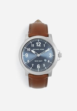 Michael Kors Paxton Watches Blue & Brown