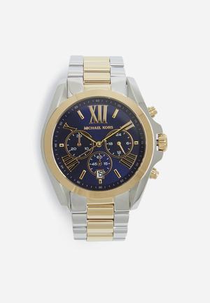 Michael Kors Bradshaw Watches Silver, Gold & Blue