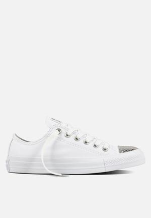 Converse Chuck Taylor All Star Metallic Toecap L OX Sneakers White/Silver