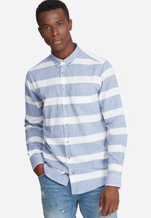 Stripe oxford slim fit shirt
