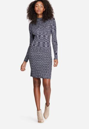 Vero Moda Adinah Mila Dress Formal Navy, White & Black