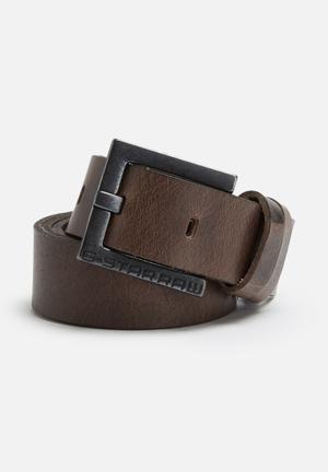 G-Star RAW Duko Leather Belt Dark Brown