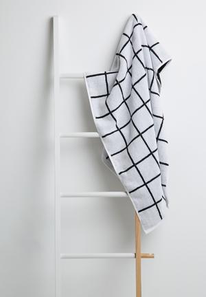 Sixth Floor Grid Bath Towel 100% Cotton