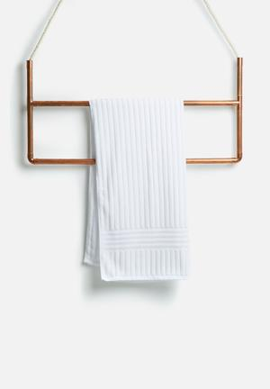Sixth Floor Lines Bath Towel 100% Cotton