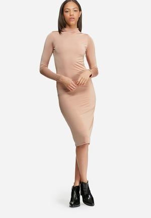 Slinky polo neck dress