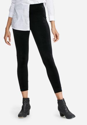 Velvet high waisted leggings