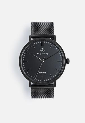 Dailyfriday Alice Mesh Watch Black