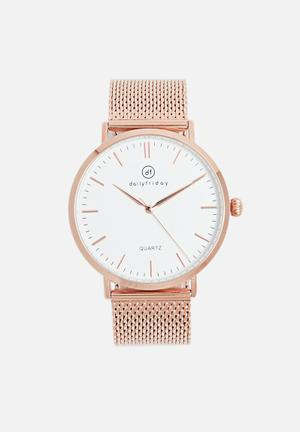 Dailyfriday Alice Mesh Watch Rose Gold