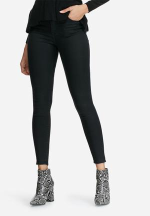 Dailyfriday High Waist Super Stretch Skinny Jeans Black