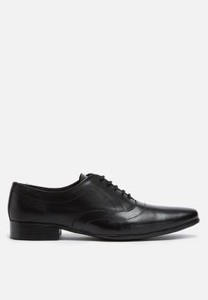 Basicthread Jonathan Leather Oxford Formal Shoes Black