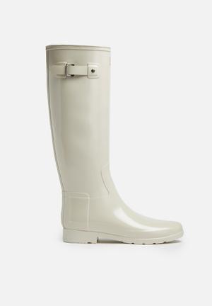 Hunter Original Refined Gloss Boots Beige
