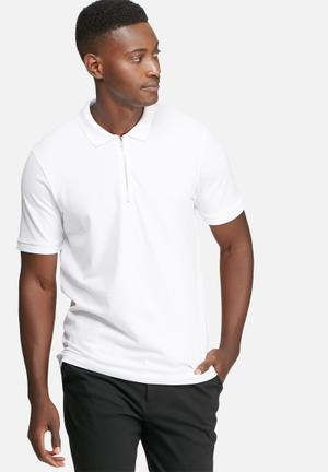 Jack & Jones Zip Polo Shirt T-Shirts & Vests White