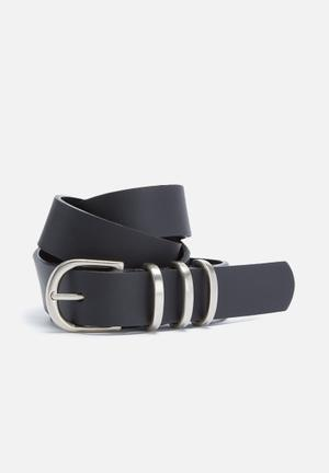 Dailyfriday Multi Keeper Leather Belt Black